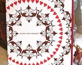 Lovefest, anniversary card