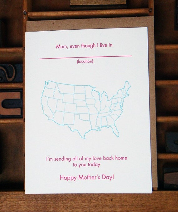 Mother's Day Card, Map