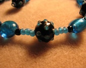 Bumpy Blue Necklace and Earring Set