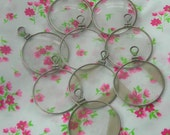 9 Vintage  Round Loop top Optical lenses - Steampunk art or Jewellery.