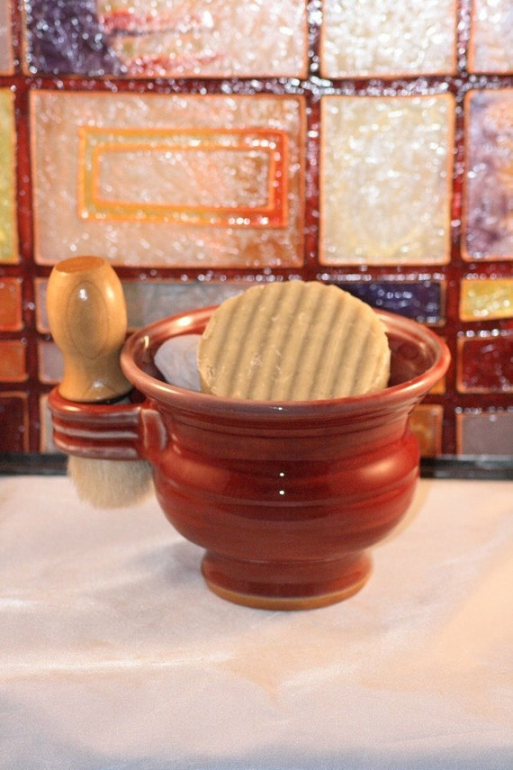 Handmade Shaving Soap and Shaving Mug Gift Set