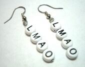 LMAO Alphabet Bead Earrings Gamer Girl Geeks