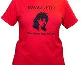 What Would JOAN JETT Do tshirt in red