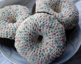 Chocolate Vanilla Donut with Sprinkles