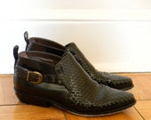 Basket Weave Booties Womens Size 8