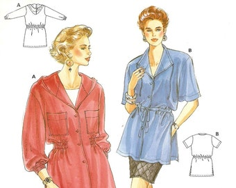 Burda 4734, Sewing Pattern, Misses Jacket, Womens Top, Jacket, Short Sleeves or Long, Sizes 10 12 14 16 18 20, Uncut Pattern,Sewing Supplies