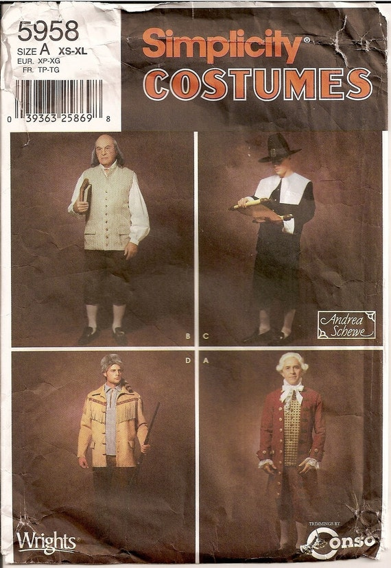 how to give a good haircut mens colonial costumes vest shirt jacket by patternworld 5958 | il 570xN.180368365