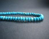 Sleeping Beauty Turquoise Rondelles (6), 4mm