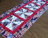 Flag Print Tablerunner