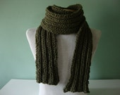 Dude Scarf man scarf boyfriend scarf hand knit scarf wool scarf long scarf green scarf army camo green for him for dad scarves for men