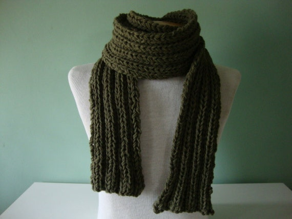 The Dude Scarf, in army forest green camo camouflage, for him for dad, extra length super long, father's day gift