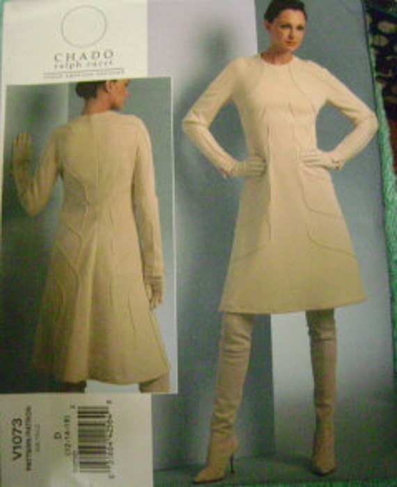 Vogue Misses Chado Ralph Rucci Dress Sz  12-16   V1073  Uncut