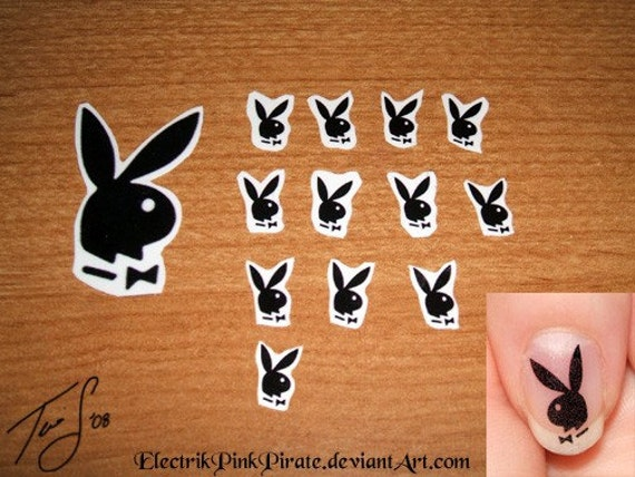 Items Similar To 12 New Playboy Bunny Nail Decals And