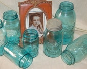 SALE Vintage Blue Quart Ball Perfect Mason Jar Great For Storing Your Treasures Or Adding To Collection  (kg3)