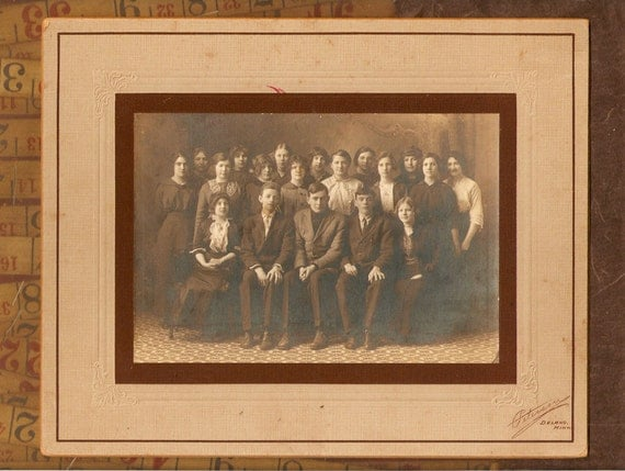 Antique Cabnet Photo 'Uncle Bills 8th Grade Graduation' add to a collection or use in your art and crafts