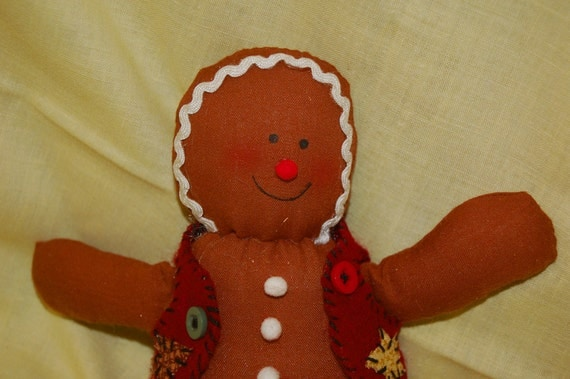 Adorable Gingerbread Man (Featured)  use as is for christmas decoration or use in flower and other craft projects