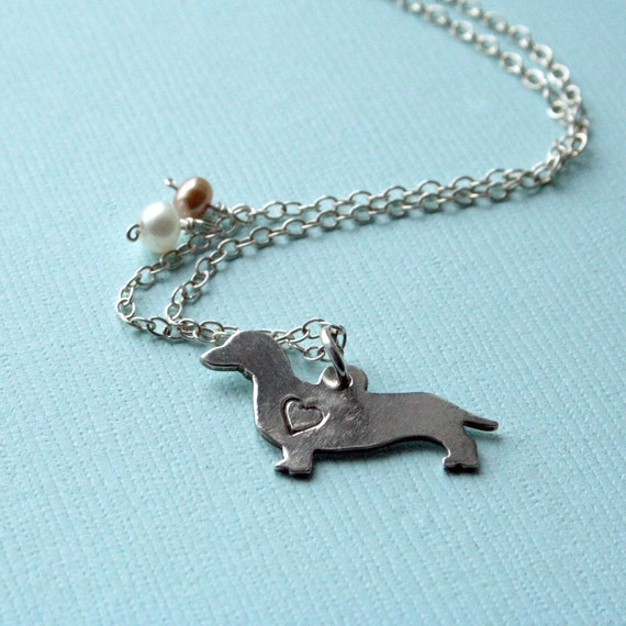 Sterling Dachshund Necklace