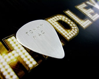 Sterling silver guitar pick - gifts for him, gifts for men, Fathers Day, music lover, keepsake- one left in stock - 2 dollar shipping
