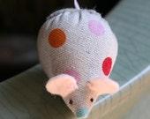 itty bitty mouse linen polka dots