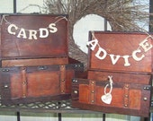 Cards and Advice Banners with Wooden Heart