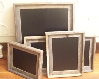 Wooden Chalkboard with Rustic  Wood Handmade Frame-12x16""
