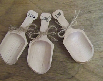 Wedding Wooden Scoops for Candy