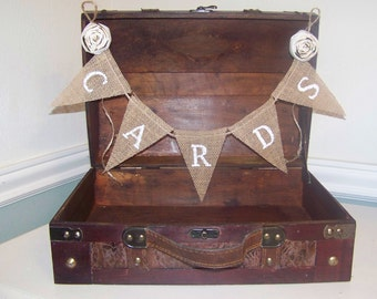 Large Rustic Wedding Card Box or Favors Box