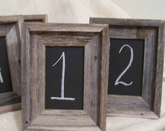 Rustic Table Numbers- Small Framed Chalkboard