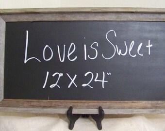 "Rustic Wedding Chalkboard 12"" x 24"""