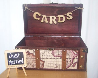 Wedding Card Box with Banner-Travel Theme Wedding