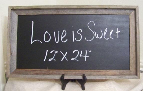 "Rustic Chalkboard-Wood Wedding Chalkboard-12"" x 24"""
