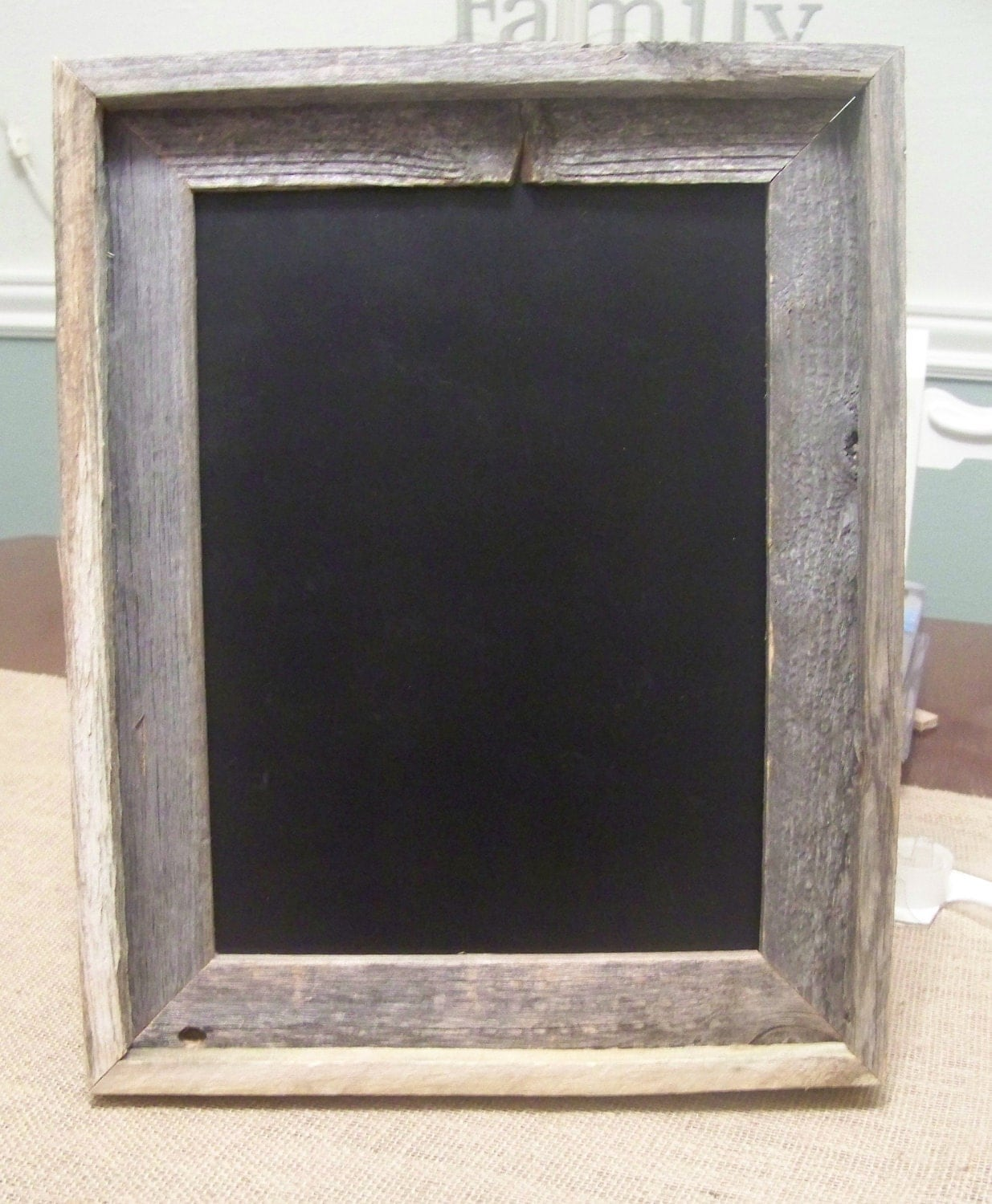 Wooden Chalkboard with Rustic Barn Wood Handmade
