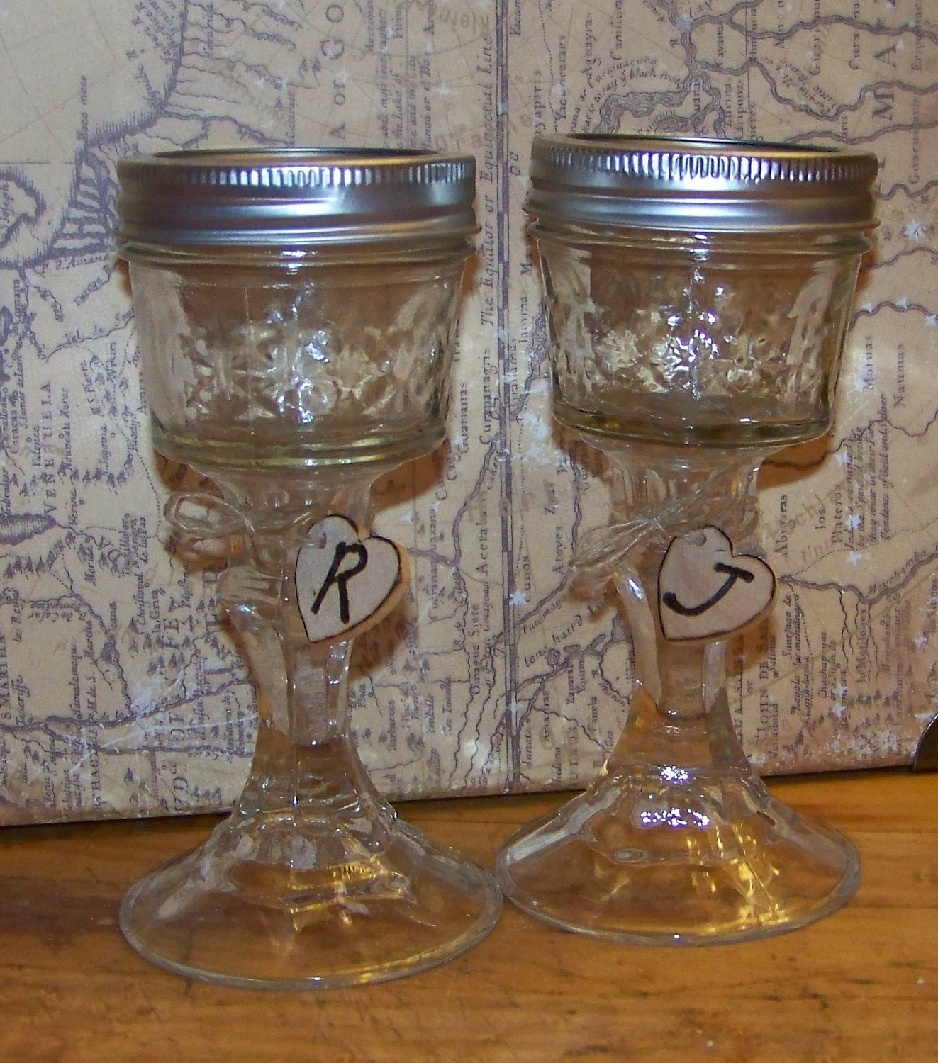 Wedding Mason Jar Wine Glasses For Bride And By
