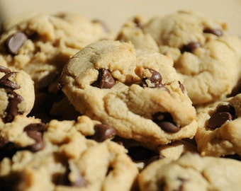 Food Photography - Cookies - Fine Art Photograph - Dessert Print - Chocolate Chip Cookies Photo - Baking Photo - Kitchen Wall Decor
