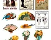 Vintage Fashion Boots Hats and Style Images Download Digital Collage Sheet GreatMusings No.122