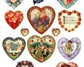 Victorian Valentines Vintage Digital Collage Sheet Download Images No.315