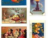 Sale Halloween vintage Images download Digital Collage Sheet GreatMusings No.125