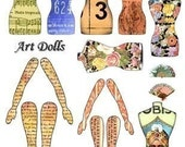 Altered art doll digital collage sheet torso legs arms Digital Collage Sheet Download GreatMusings No. 106