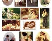Vintage Mother Child children Mothers Day Images Download Digital Collage Sheet GreatMusings No. 232