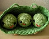 Reserved Dawbis - Three Happy Little Peas and Their Pod