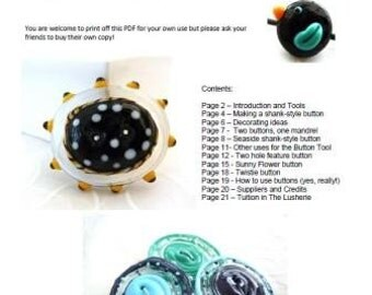 Everybody Needs (Glass) Buttons .. lampwork tutorial eBook
