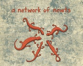 a network of newts - limited edition print 5/100