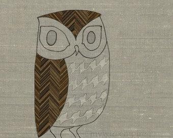 pattern owl - 11x14 print