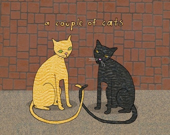 a couple of cats - limited edition print 15/100