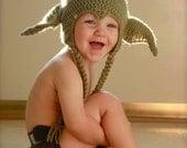 RESERVED FOR RRUNAWAY: Star Wars Yoda and Princess Leia hats