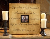1 CUSTOM Wood Picture Frames with Quotes, Hand Painted, 20 x 20 inch