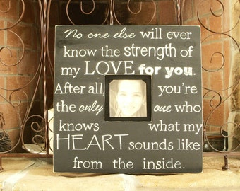 Reserved for cmmrickard: Wood Picture Frame with Quote, Hand Painted,16 x 16 inch