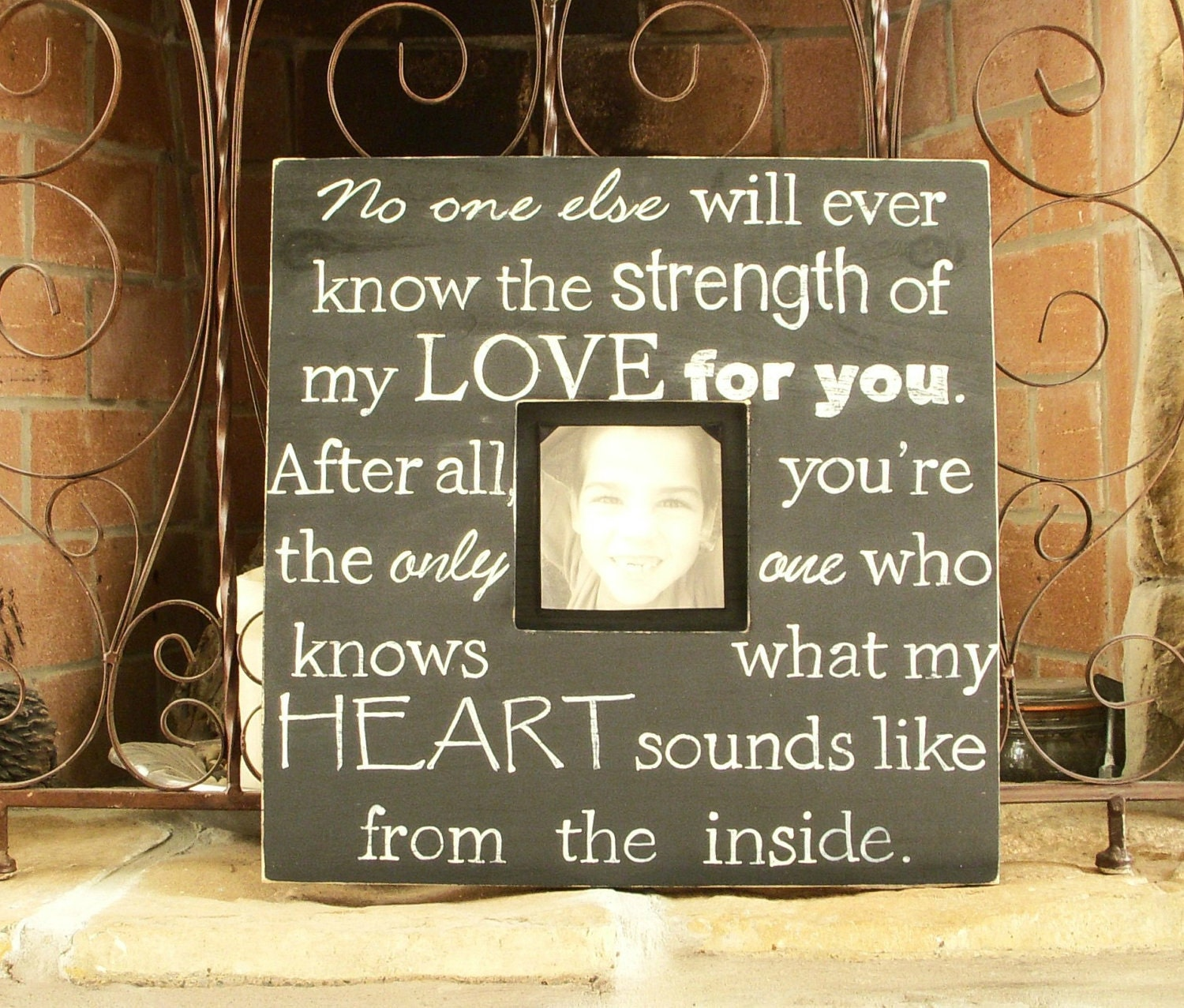 Love Quote Picture Frames Reserved For Cmmrickard Wood Picture Frame With Quote Hand