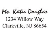 Return address stamp personalized great for wedding RSVP cards