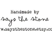 Handmade by Rubber Stamp with your custom etsy shop name 4x2